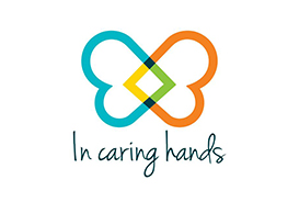 Logo In caring hands